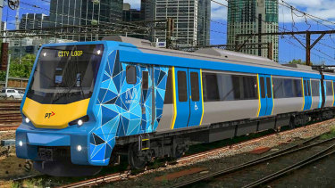 Alstom's preliminary design for the X'Trapolis 2.0 trains.