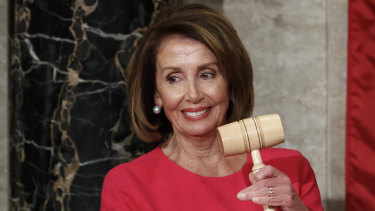 House Speaker Nancy Pelosi of California holds the gavel after at the Capitol in Washington, DC.