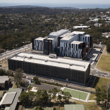 The $600 million Northern Beaches Hospital is finally opening this month, next to the Forest High School.