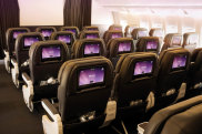 Air New Zealand Boeing 787-900 Dreamliner Cabin shows premium economy