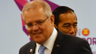 Prime Minister Scott Morrison and Indonesian President Joko Widodo.