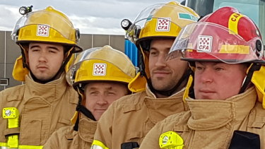 CFA captain Mark Hatton (right) and other crew helped save lives in Orbost.