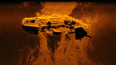 This shipwreck discovered 2300km off the WA coast during the 2015 search for MH370 has been identified as an iron sailing ship loaded with a cargo of coal.