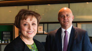 Boral chairman Kathryn Fagg, and new CEO Zlatko Todorcevski.