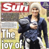 The controversial image on the cover of The Sun.