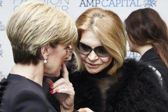 Julie Bishop and Carla Zampatti.