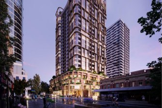 An artist impression of the Brunswick Street development, which has undergone a redesign process to suit the housing program pilot.