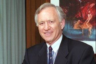 Andrew Peacock, pictured in 1997 when he was Australian ambassador to the US.