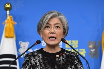 South Korean Foreign Minister Kang Kyung-wha is scheduled to travel to Washington next week.