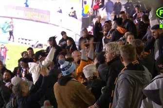 Wests Tigers fans let former coach Ivan Cleary know who won on Friday night.