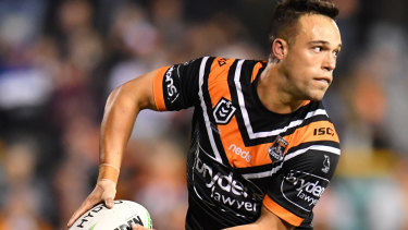 Dreaming of finals footy: Luke Brooks takes on the Cowboys at Leichhardt Oval.