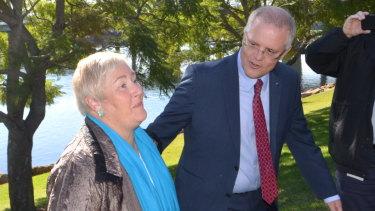 Happier days: Former Gilmore MP Ann Sudmalis with Scott Morrison in Nowra.