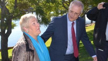 Prime Minister Scott Morrison, with outgoing Gilmore MP Ann Sudmalis in 2018.