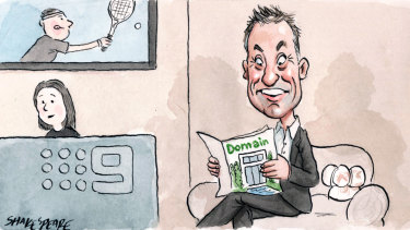 Former Domain executive Antony Catalano was seen in the Nine offices last week, despite trying to foil the company's merger with Fairfax. Illustration: John Shakespeare