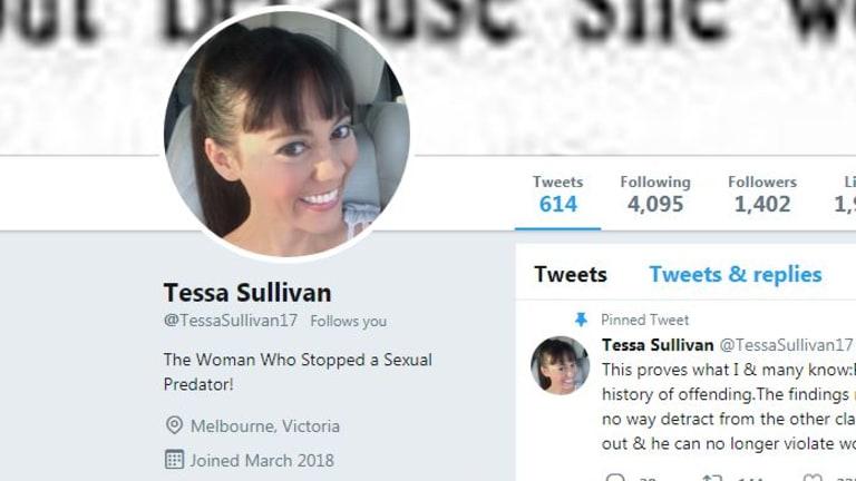 Ms Sullivan's new Twitter profile.