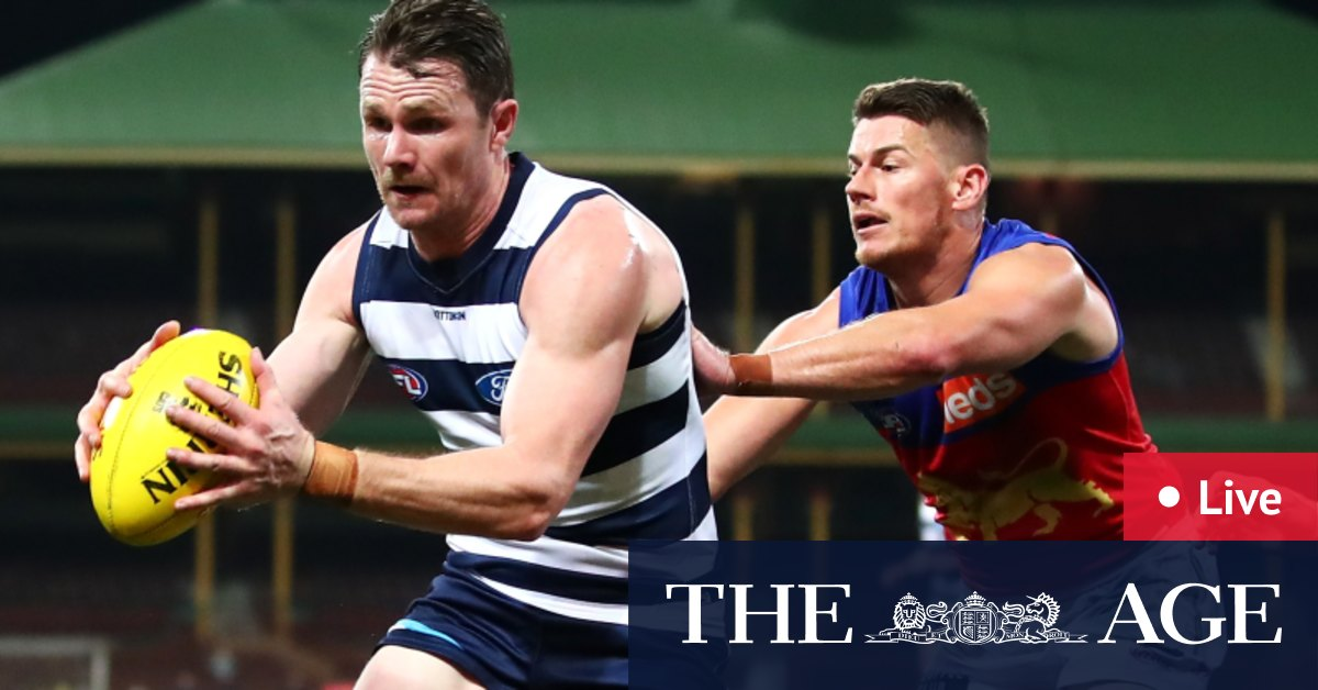 AFL finals 2020 live updates: Geelong Cats take on Brisbane Lions for spot in 2020 grand final against Richmond Tigers – The Age