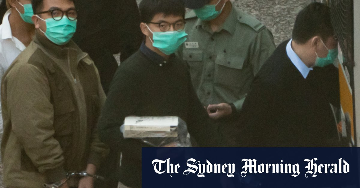 Hong Kong protest leader Joshua Wong sentenced to jail on two charges – Sydney Morning Herald