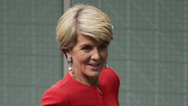 Julie Bishop says she doesn't miss her political life.