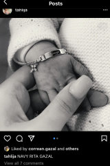 Nabil Gazal and Tahlija Wall have welcomed their first born.