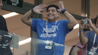 Clean bill of health: The one and only Diego Maradona.