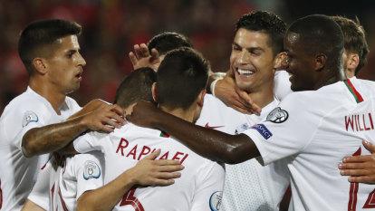Ronaldo scores four, England five as it rains goals in Euro qualifiers