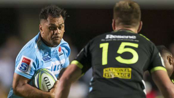 Statement of intent: Karmichael Hunt impressed in his Super debut for the Waratahs against the Hurricanes.