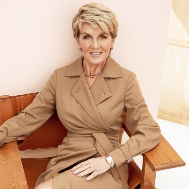 Julie Bishop wears Max Mara dress.