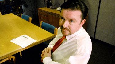 Ricky Gervais as insufferable boss David Brent.