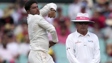 Tricky: Indian spinner Kuldeep Yadav.