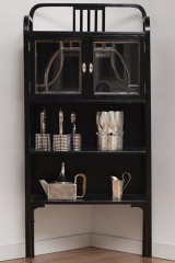 Josef Hoffmann armoire and tableware in Martin Hiscock's Viennese-style villa.