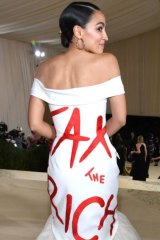 Fashion diplomacy: Alexandria Ocasio-Cortez makes a statement.