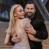 Lee Levi and her fiance Eitan Neishlos at their Sydney soiree last year.