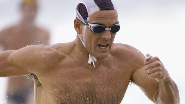 Ironman and triathlete Dean Mercer competing in 2005. Mercer died of a heart attack on the Gold Coast last year.