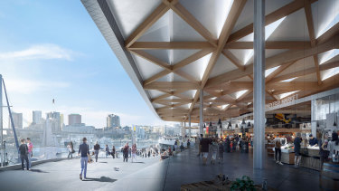 The new Sydney Fish Market will house an expanded seafood cooking school, food kiosks, restaurants, bars and outdoor spaces.