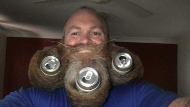Thornlands man Mark Duncan took part in Oktoberfest's beard competition in the freestyle category and won.