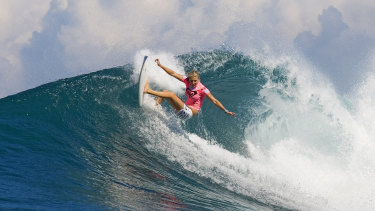 Closing in: Stephanie Gilmore is within reach of yet another world title.