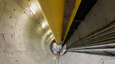 Tracking devices have been clamped onto machines boring tunnels for Brisbane's new underground metro transport system.
