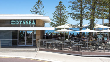 Odyssea City Beach is distancing their tables to help fight community spread of coronavirus.