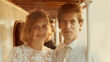 Marissa and Allan Bridge on their wedding day in 1984.
