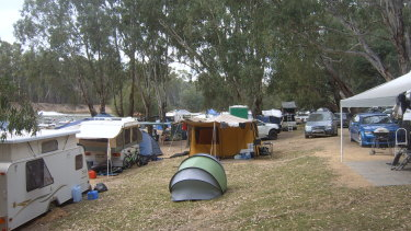 The Apex Beach site on the banks of the Murray is quite small and, over Easter, pretty crowded, so, says Andrew McDougall, everyone needs to get on.