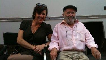 Ken Horler with daughter Sacha on the set of TV series Rake.