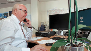 """""""Biggest demand on our consular services in living memory"""": Australia's High Commission to the United Kingdom, George Brandis manning the phones."""