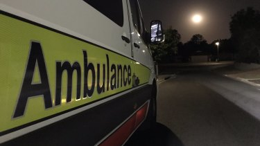 Critical care paramedics rushed the driver, who lives in the Moreton Bay suburb of Kallangur, to hospital.
