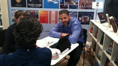 Tony Lyons from New York publisher Skyhorse recorded his conversation with journalist Sharon Churcher. He is pictured here at the Book Expo of America in 2014.