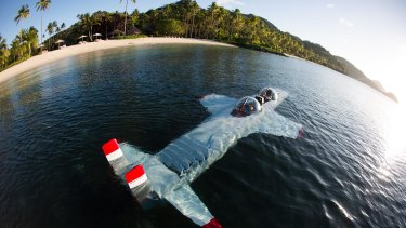 Laucala Island Resort in Fiji, where Andrew Thorburn had a holiday, has its own submarine that guests can use.