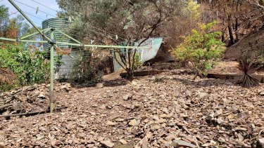 A landslide in Corryong this year.