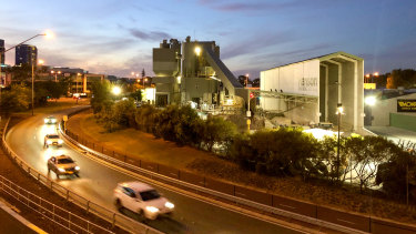 The Hanson concrete batching plant in East Perth.