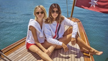 Nadia Fairfax (left) met Jodhi Meares in Hawaii, and the pair have just collaborated on a collection for Meares' active wear label, The Upside.