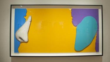 """Noses & Ears, Etc."" a Baldessari screen print."