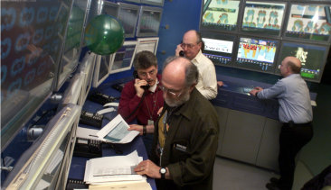 Workers at the New York Stock Exchange Market Operations as they monitored the NYSE Trading Floor Operations Center on the morning of January 1, 2000.